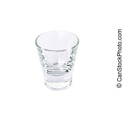 Empty drinking glass on a white background