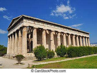 el, templo, Hephaestus