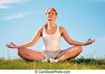girl training yoga