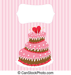 Wedding cake, valentine's day