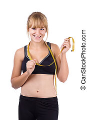 happy girl - losing weight series - happy teenager lost...