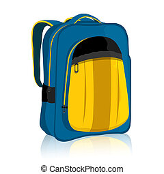 Bag Pack - illustration of bag pack on isolated background..