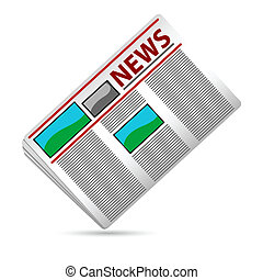 News Paper - illustration of news paper on white background