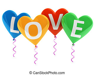 Love heart balloons