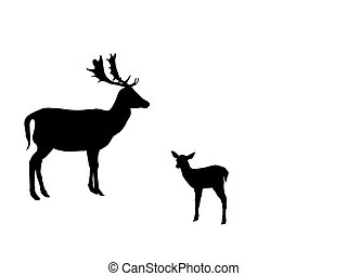 doe family-silhouette