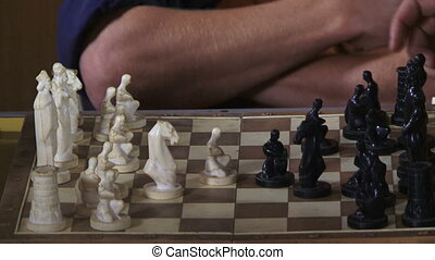 Playing chess - Professional chess players staged a duel.