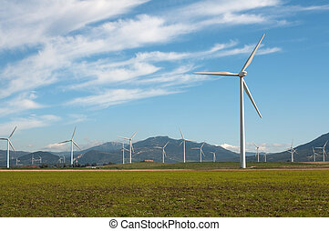 Wind turbines - Wind Turbines in Andalucia, Spain