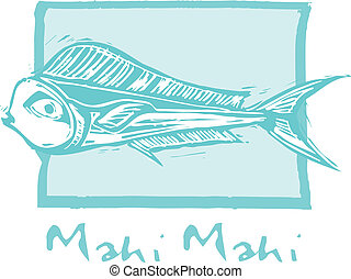 Mahi Mahi Fish in blue