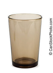 Dark drinking glass  isolated on the white background