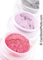 Set of eye shadows - Set of powder eye shadows in jars...