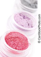 Set of eye shadows - Set of powder eye shadows in jars...