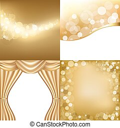 Golden Backgrounds - 3 Gold Background With Stars And Gold...
