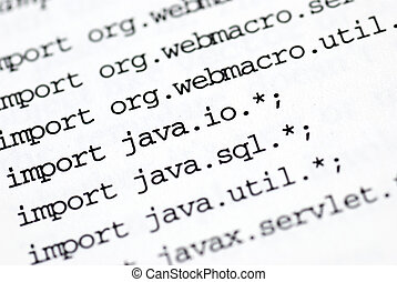programming - a close up of java programming code