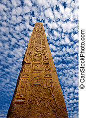 obelisk - an obelisk in the karnak temple in luxor