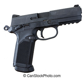 Polymer handgun - pistol that has a polymer frame and steel...
