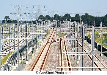 Complexity at the ralroad - Railroad in Holland, called...