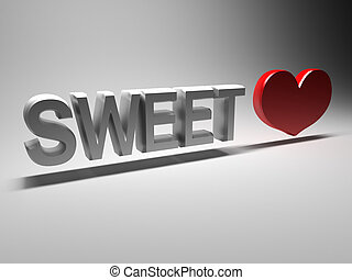sweetheart - 3D word - sweetheart