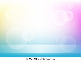 circles and lines on color background
