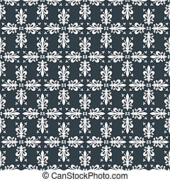 Seamless blue victorian royal vector texture with fleur-de-lis