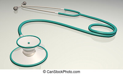 Stethoscope - Image of a medical stethoscope isolated on a...