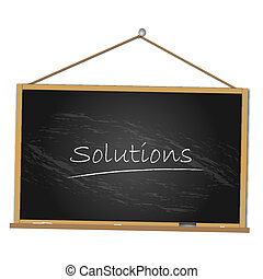 Solutions Chalkboard Illustration - Image of a chalkboard...