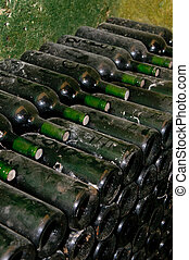 bottles in wine cellar