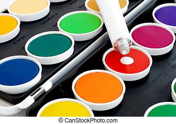 Watercolor drop