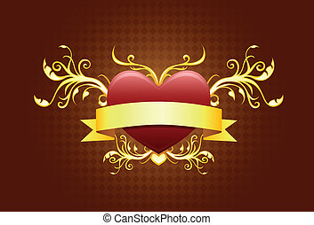 heart shape with banner