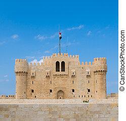Fort, Qaitbey, Alexandria, egypten