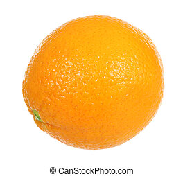Orange - A stock photo of an orange set against a white...