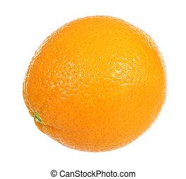 Orange - A stock photo of an orange set against a white...