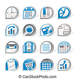 Simple Business and Office Internet Icons - Vector Icon Set...