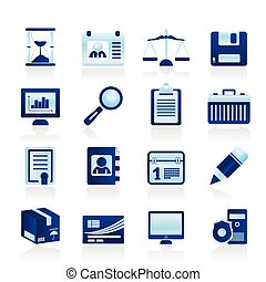 Simple Business and office  Icons