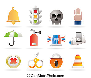 Surveillance and Security Icons - vector icon set