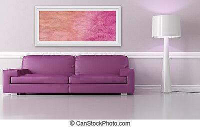紫色, 長沙發