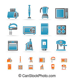 Kitchen and home equipment icons - Kitchen and home...