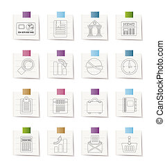 Business and Office Realistic icons - Business and Office...