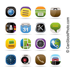 Mobile phone and computer icons
