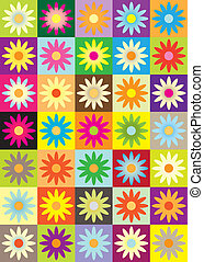 different color flower icon - vector illustration