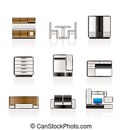 Furniture and furnishing icons