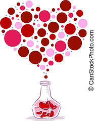 Love Potion - Illustration of a Bottle of Love Potion