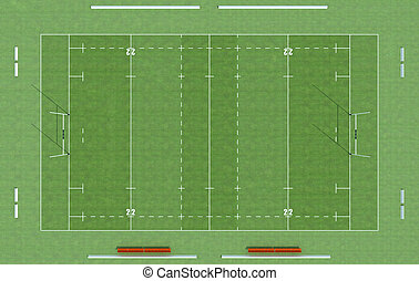 top view of a rugby field - high definition of a rugby field...