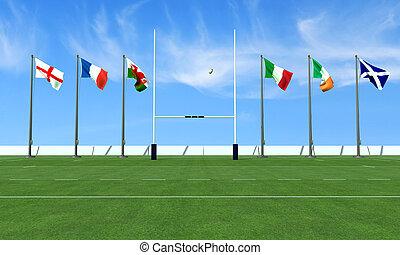 rugby, Seis, naciones