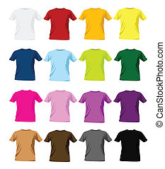 T-shirt, coloré, conception, Gabarits