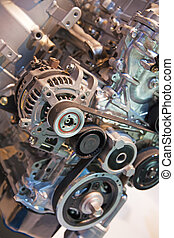 Car engine - Close up image of an internal combustion engine
