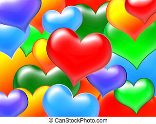 colour hearts