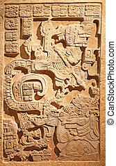 Old mexican relief representing an acient king