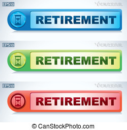 retirement icon - colored icons in retirement. hourglass...