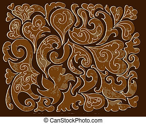 pattern of carved wood