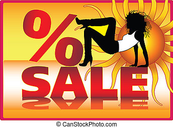Vector sale poster